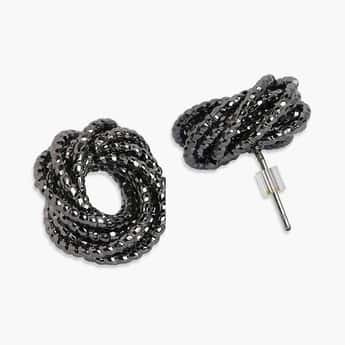 TONIQ Beaded Round Stud Earrings