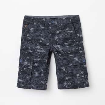 INDIAN TERRAIN Boys Camouflage Print Woven Shorts
