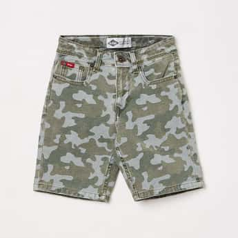 LEE COOPER JUNIORS Boys Camouflage Printed Woven Shorts