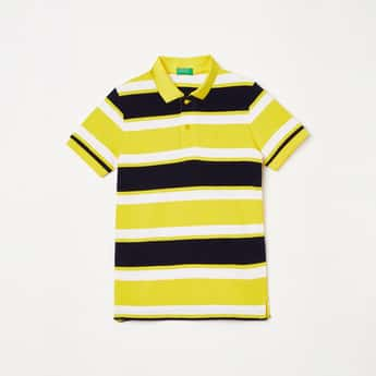 UNITED COLORS OF BENETTON Boys Striped Polo T-shirt