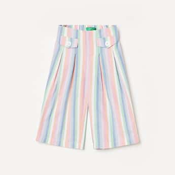 UNITED COLORS OF BENETTON Girls Striped Pleated Trousers
