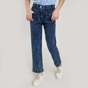 AND Girls Light-Washed Regular Fit Jeans