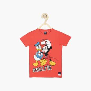 ALLEY SOLLY Boys Disney Print Crew Neck T-shirt