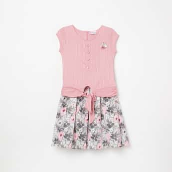 PEPPERMINT Girls Printed Top with Elasticated Skirt