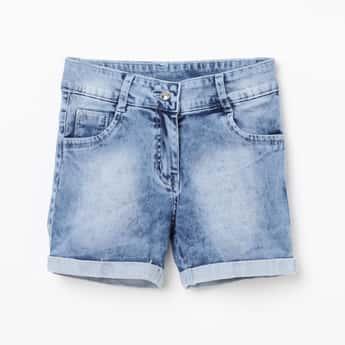 PEPPERMINT Girls Washed Denim Shorts