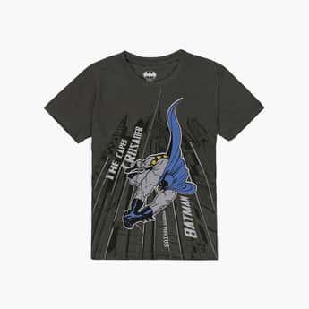 KIDSVILLE Boys Batman Printed Crew Neck T-shirt