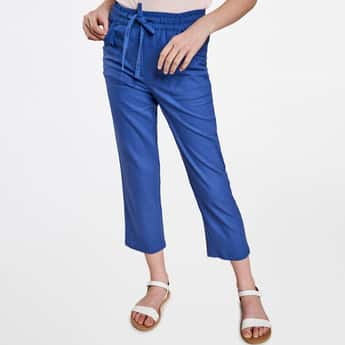 AND Girls Solid Cropped Pants