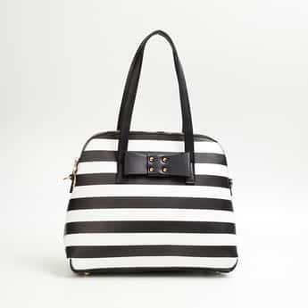 GINGER Women Striped Handheld Bag
