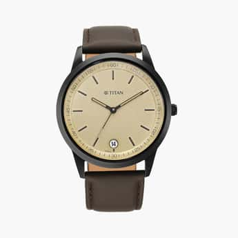 TITAN Men Analog Watch with Leather Strap - 1806NL02