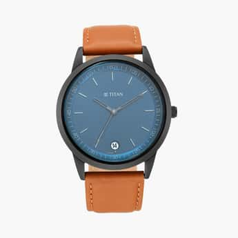 TITAN Men Analog Watch with Leather Strap - 1806NL03