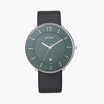 TITAN Men Analog Watch with Leather Strap - 1849SL02