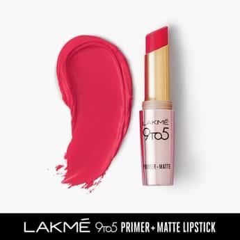 LAKME 9 To 5 Primer Matte Lipstick Scarlet Surge- 3.6 g