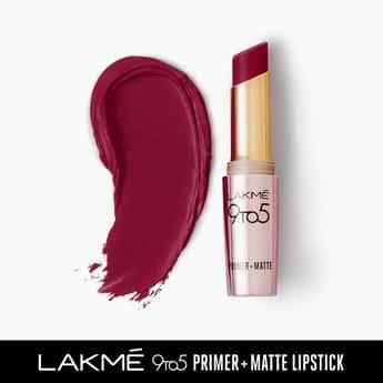 LAKME 9 To 5 Primer + Matte Lipstick- Red Velvet- 3.6g