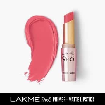 LAKME 9 To 5 Primer Matte Lipstick- Blush Pink- 3.6g
