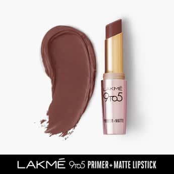 Lakme 9To5 Primer + Matte Lip Color Brown Walnut 3.6 G