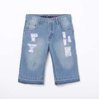 GINI & JONY Boys Stonewashed Denim Shorts