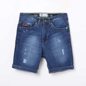 LEE COOPER JUNIORS Boys Solid Denim Shorts
