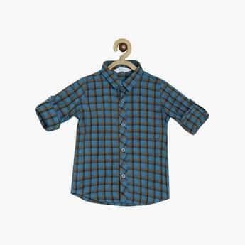 FS MINI KLUB Boys Checked Regular Fit Casual Shirt