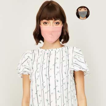 GINGER Women Printed Facemask- Set of 2