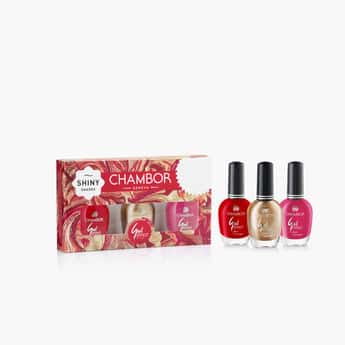 CHAMBOR Gel Effect Nail Lacquer Combi - Set Of 3