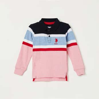 U.S. POLO ASSN. KIDS Boys Colourblocked Polo T-shirt