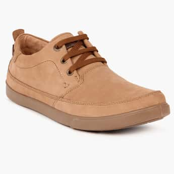 WOODLAND Camel Casual Lace-Up Shoes