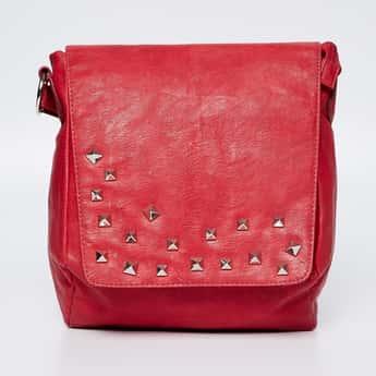 BAGGIT Embellished Flap-Over Handbag