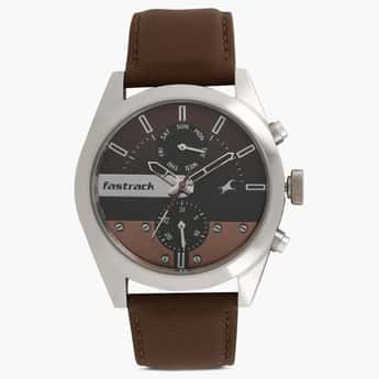 FASTRACK Analog with Day & Date Round Dial Watch- 3165SL01