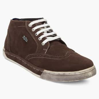 BUCKAROO Laceup Suede Shoes