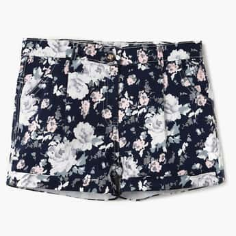 PEPPERMINT Floral Printed Folded Hem Shorts