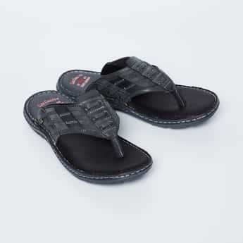 LEE COOPER Lace Detail V-strap Slippers