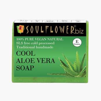 SOULFLOWER Cool Aloe Vera Soap