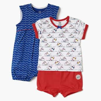 FS MINI KLUB Value Pack- Set Of 3 Pcs. (T-Shirt, Shorts And Romper)