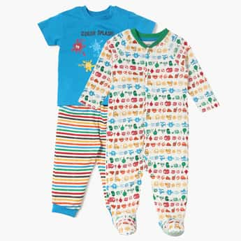FS MINI KLUB Sleepsuit Pack- 3 Pcs.
