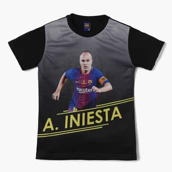 FC BARCELONA Digital Print Crew Neck T-Shirt