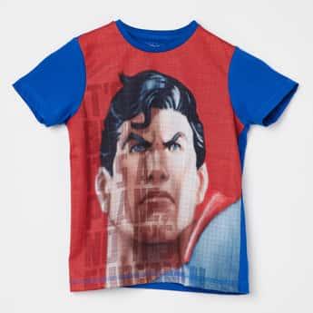 ALLEN SOLLY Superman Print Crew Neck T-shirt