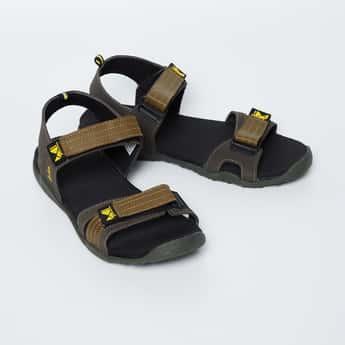 LEE COOPER Solid Velcro Strap Sandals
