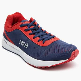 FILA Contrast Knitted Upper Sports Shoes