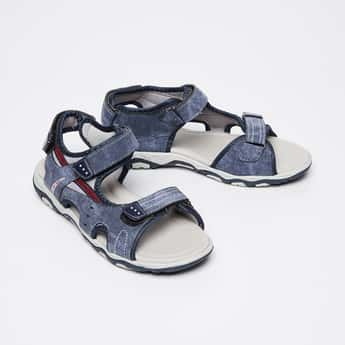 FAME FOREVER Washed Denim Sandals