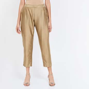 MELANGE Solid Ethnic Regular Fit Cropped Pants