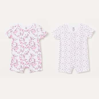 FS MINI KLUB Floral Print Rompers - Set of 2 Pcs.