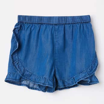 JUNIORS Solid Cotton Shorts