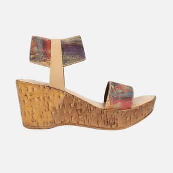 CATWALK Printed Ankle-Strap Wedges