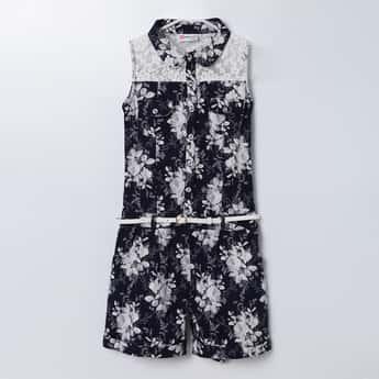 PEPPERMINT Floral Print Sleeveless Dress