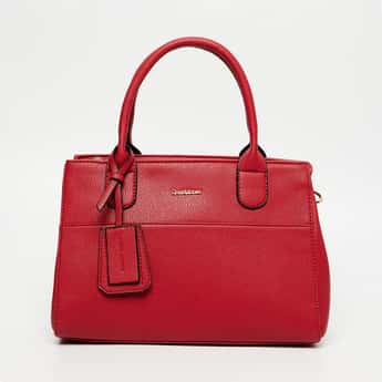 DAVID JONES Textured Handbag with Detachable Strap