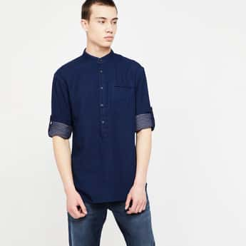 CELIO Roll-Up Sleeves Regular Fit Shirt
