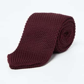 CODE Patterned Woven Formal Tie