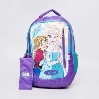 SKY BAGS Frozen Print Backpack with Zip Closure
