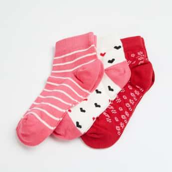 FAME FOREVER Girls Jacquard Socks - Pack of 3