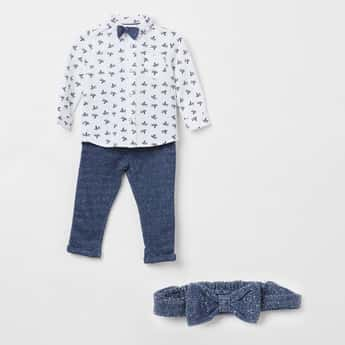 FS MINI KLUB Printed Shirt with Pant and Bow